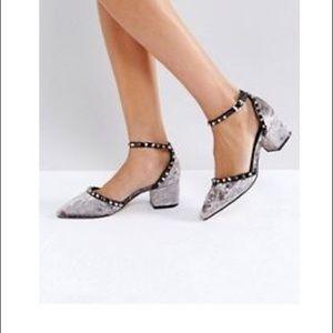 Asos velvet studded heels